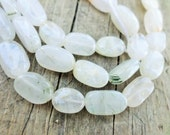 Tourmalinated Quartz Nugget 10-12mm Half Strand