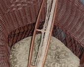 Loom Shuttle Antique Large Weaving Tool Gatherings Shelf Sitter Primitive Americana