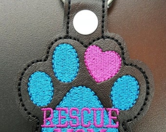 Rescue Mom Keychain