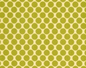 CLEARANCE SALE Amy Butler Lotus Full Moon Polka Dot Lime 1/2 yard