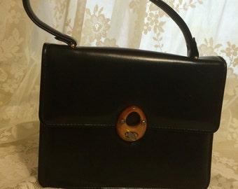 Cute Petite Handbag with Lucite Closure