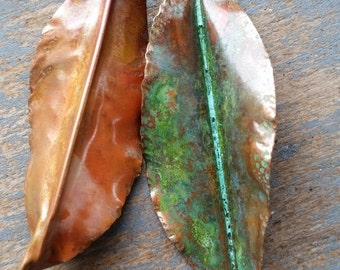 Fold form copper leaves for you to create with
