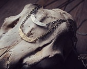 Earth : Silver, Elemental Necklace, Hand Stamped, Dainty, Subtle
