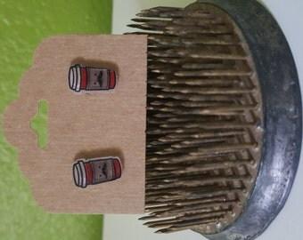 Coffee Cup Earrings - Shrinky Dinks