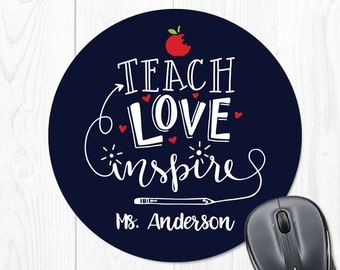 Teacher Gifts Personalized Classroom Decor Teacher Gift Mouse Pad Teacher Appreciation Gift Teacher Gift for Teacher Gift Ideas