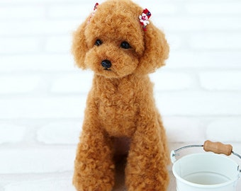 SALES 30% OFF Realistic Dog Series Needle Felt Hamanaka wool felt Kit Poodle --- Japanese Craft Kit H441-441 (18cm)