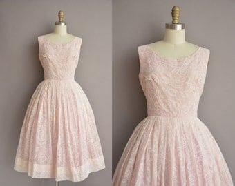 r e s e r v e d...50s pink chiffon rose print vintage dress / vintage 1950s dress
