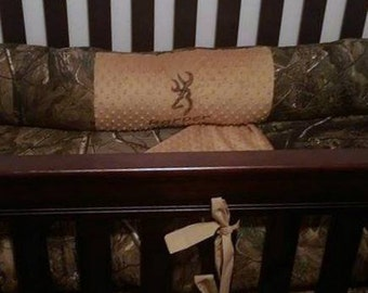Personalized Custom Real Tree Camouflage Crib Bedding Set