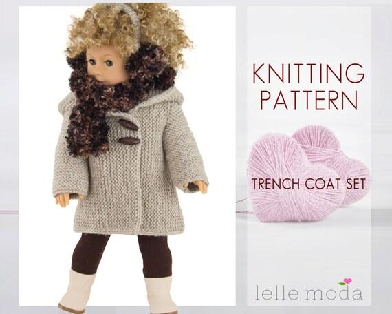 Knitting Pattern for 18 inch American Girl Dolls 18 by LelleModa