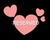Reserved for Anabel