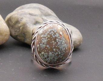Candelaria Turquoise ring, size 8 ring, size 9 ring, large turquoise ring, sterling silver ring, turquoise sterling ring, large silver ring