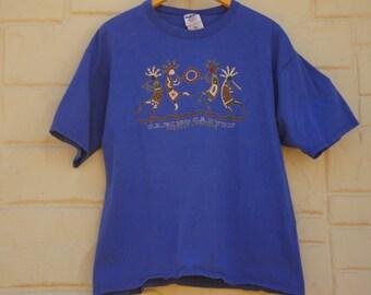 Vintage 90s Tucson Arizona T-shirt /Sabino Canyon/ Native American/ Tribal/ Southwestern/Hippie
