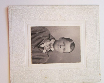 vintage photograph - card photo - sweet boy