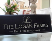 Carved Personalized Family Name Sign 8 x 20 4R3