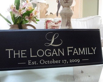Carved Personalized Family Name Sign Last Name Sign