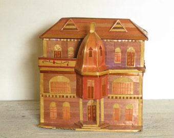 Vintage, Folk Art Straw House Box from Florida