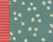Cotton and Steel Penny Arcade Popcorn Light Blue By the 1/2 Yard