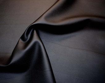 Black Bonded Leather Vinyl Upholstery Fabric