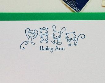 Personalized Stationery Custom Stationary - Animals