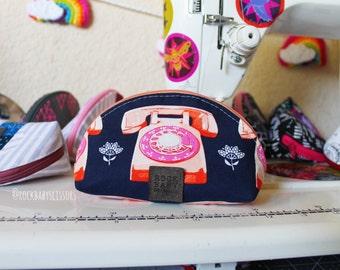 Trinket Telephone Dumpling pouch | Zipper pouch | Travel pouch | Small zipper pouch