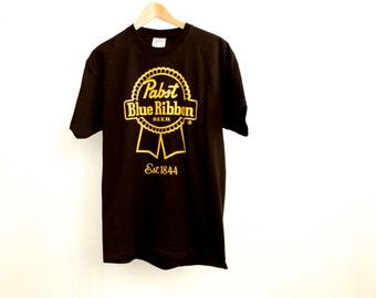 vintage PABST 90s black beer shirt