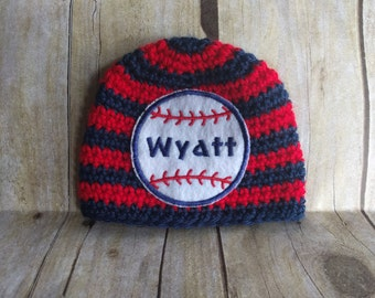 Baseball Name Hat / Personalized Newborn Hat / Newborn Name Hat / Personalized Baby Hat / Custom Baby Name hat