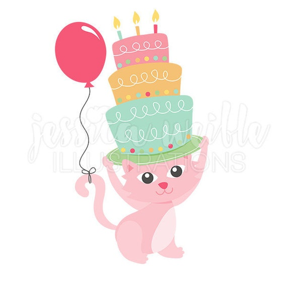 happy birthday kitty clip art cute digital clipart birthday cat rh catchmyparty com digital clipart downloads digital clipart for sale