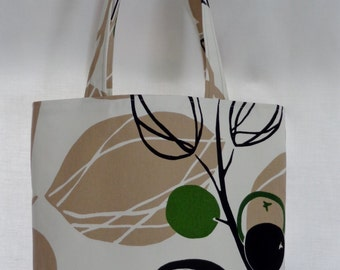 Medium Tote, Shoulder BAG, Work Purse, Small Diaper BAG, White, Beige, Black, Green, IKEA, Spring Summer, Leaves