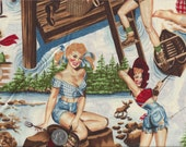 Great Outdoors Pin Up Girls Snow Bunny Alexander Henry By the Yard