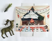 Tent View Christmas Card