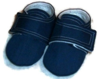 Baby Boy or Girl Shoes, Navy Blue
