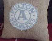 Vintage Seed Bag Pillow