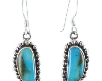 Peruvian Opal Earrings Dot Design #4 Sterling