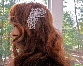 Crystal Bridal Hair Accessory,  Wedding Gown Hair Accessory,  Crystal Wedding  Hair Accessory,  Art  Deco Hair Accessory