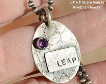 SALE Clearance ....Leap Charm .... sterling silver Pendant/charm contemporary METALSMITH Artisan jewelry by Mikelene