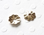 Destash: Flower Bead Caps, 4.5mm, 14K Gold Filled Jewelry Findings, 20 Pieces