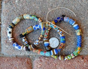 3 Krobo Bead Bracelets