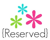 Reserved for Tiffany Griffin