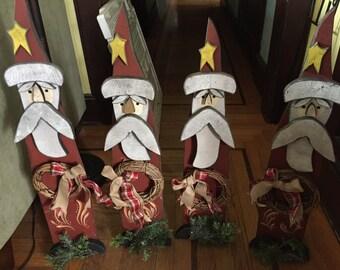 READY SHIP Standing Wood SANTA, Front porch Santa, Front Door Santas