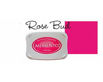 Memento Dye Full Size Water Based Ink Pad ROSE BUD  Pink, Fuchsia