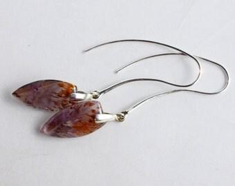 Super 7 - Coaxenite Sterling Silver Earrings