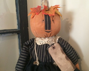 Primitive Pumpkin Doll