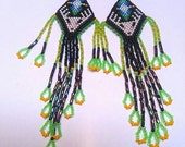 Huichol style deer earrings