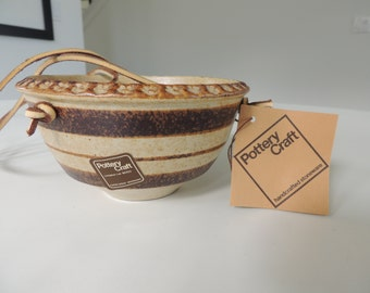 New with tags, pottery Craft hanging planter pot mid century