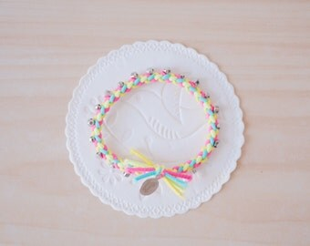 handknitted 2-way bracelet & hair tie