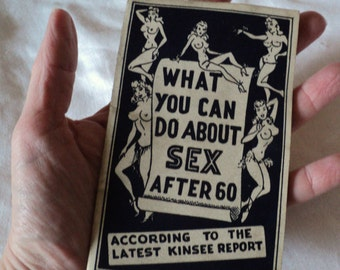 Humorous 1950s Booklet What You Can do About Sex After 60 Topless Cover Art