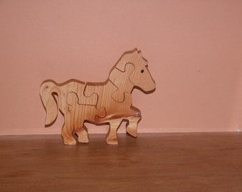 Horse Puzzle for Child - Kid's Toy - Child's Puzzle - Child's Horse Puzzle Decor