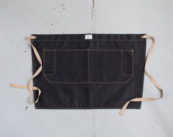 Waist Apron in Black Duck Canvas