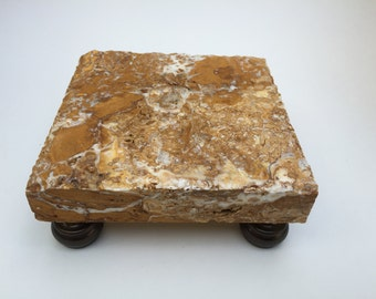 Deluxe travertine trivet / display pedestal
