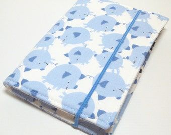READY TO SHIP - Children's Crayon Wallet Coloring Case - David Walker - Get Together - Pig Toss in Blue